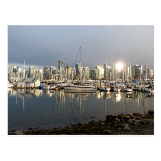 Coal Harbour, BC at sunset. Postcard