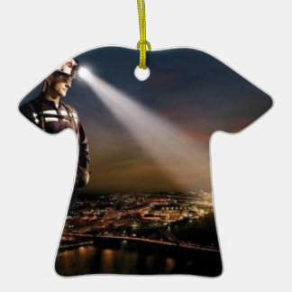 COAL KEEPS OUR LIGHTS ON Double-Sided T-Shirt CERAMIC CHRISTMAS ORNAMENT