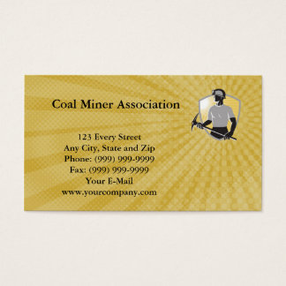 Coal Miner Association Business Card