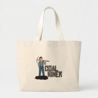Coal Miner Jumbo Tote Bag