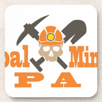 Coal Miner PA Drink Coaster