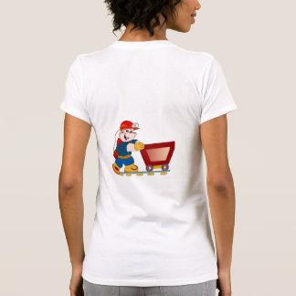 Coal Miner Pushing Cart Women T-Shirt