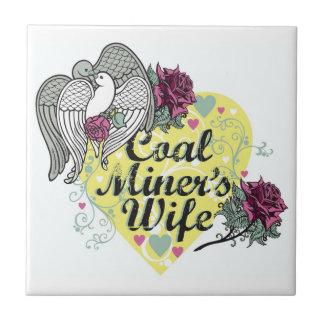 COAL MINER S WIFE CERAMIC TILE