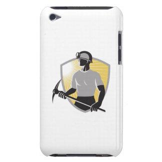 Coal Miner With Pick Ax Shield Retro iPod Case-Mate Case