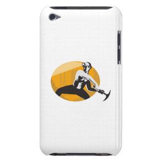 Coal Miner With Pick Ax Shield Retro iPod Touch Case