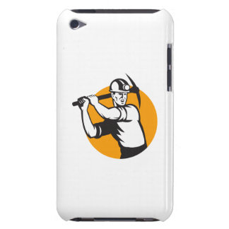 Coal Miner Working Pick Ax Retro iPod Touch Cover
