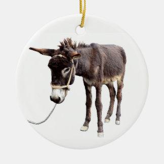 Coal Miner's Mule Ceramic Ornament