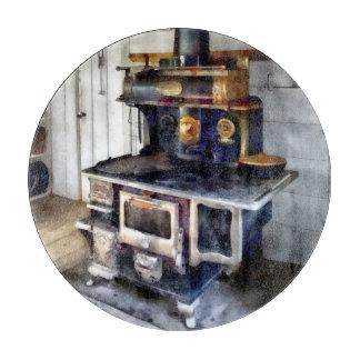 Coal Stove in Kitchen Cutting Board