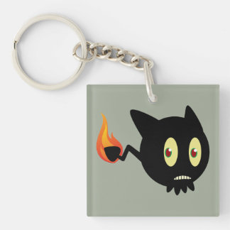 Coal Tar Single-Sided Square Acrylic Key Ring