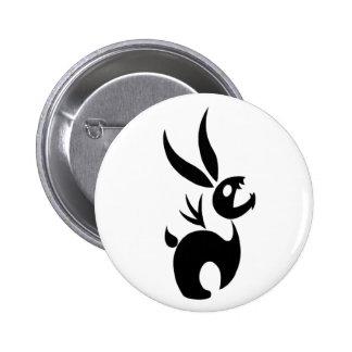 Coal the Shadow Rabbit 6 Cm Round Badge