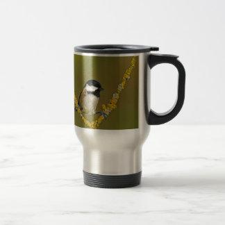Coal Tit Bird Resting Travel Mug