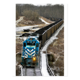 Coal Train in Winter Postcard