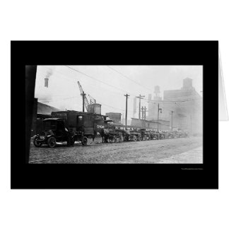 Coal Wagons in Chicago, IL 1909 Card