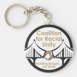 Coalition for Racial Unity Basic Round Button Key Ring