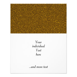 coarse glitter,golden 11.5 cm x 14 cm flyer