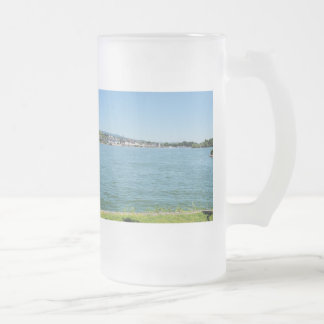 Coarse home on the Rhine Frosted Glass Beer Mug