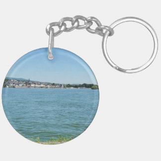 Coarse home on the Rhine Key Ring