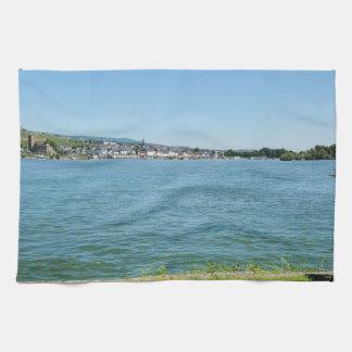 Coarse home on the Rhine Tea Towel