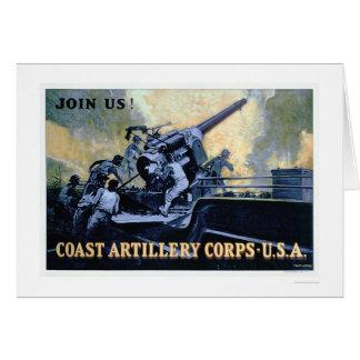 Coast Artillery Corps (US02042) Greeting Card