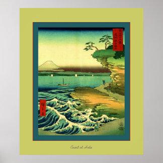 Coast At Hota ~ Vintage Japanese Poster