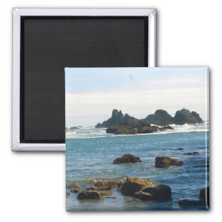 Coast at Seal Rock OR Square Magnet