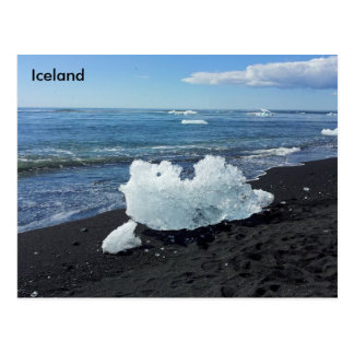 Coast by the Glacier Lagoon, Iceland Postcard