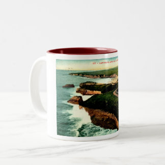 Coast Drive, Santa Cruz, California Vintage Two-Tone Coffee Mug