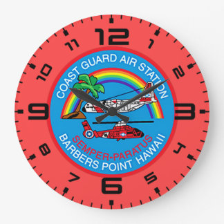 Coast Guard Air Station Barbers Point Hawaii Large Clock