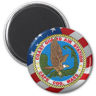 Coast Guard Air Station Cape Cod 6 Cm Round Magnet