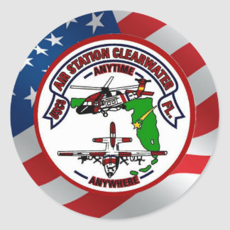 Coast Guard Air Station Clearwater Classic Round Sticker