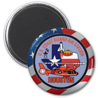 Coast Guard Air Station Houston 6 Cm Round Magnet