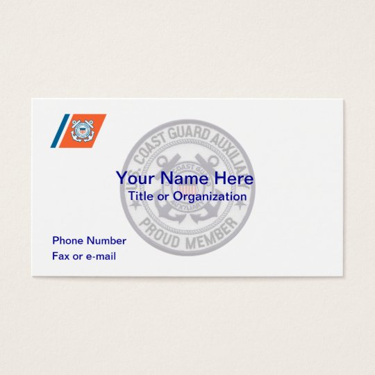 Coast Guard Auxiliary Business Card