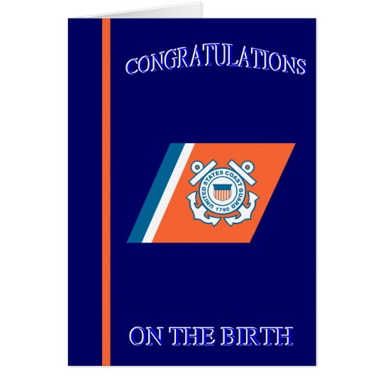 Coast Guard Birth Congratulations Card