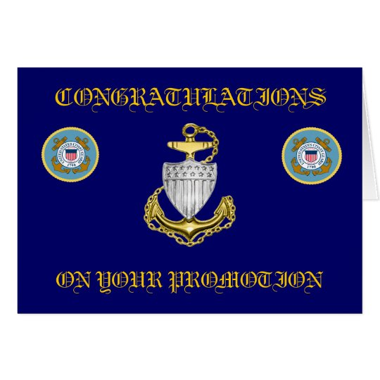 Coast Guard Chief Petty Officer Promotion Card