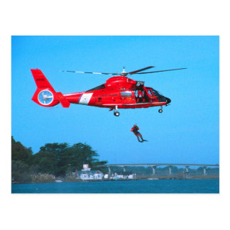 Coast Guard Chopper Postcard