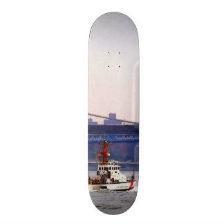 Coast Guard Cutter Near Brooklyn Bridge Skateboards