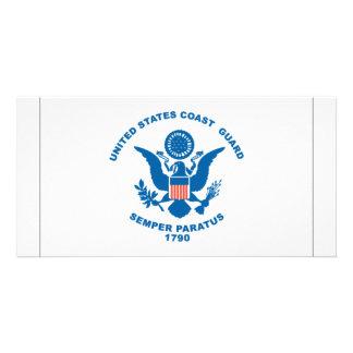 Coast Guard Flag Personalized Photo Card