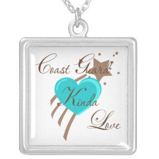 Coast Guard Kinda Love Silver Plated Necklace