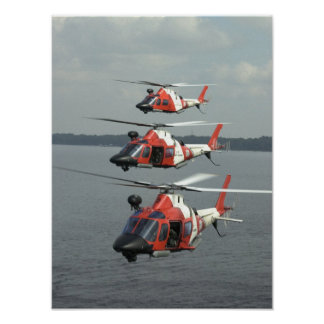 Coast Guard MH-68 Mako Helicopters Posters