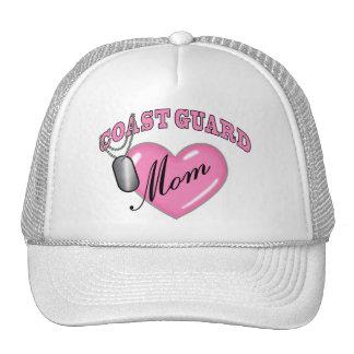 Coast Guard Mom Heart N Dog Tag Cap