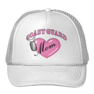 Coast Guard Mom Heart N Dog Tag Trucker Hat