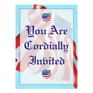 Coast Guard Patriotic Shield Wedding Invitation