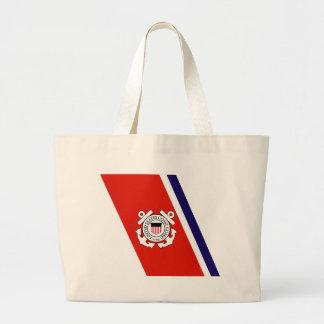Coast Guard Racing Stripe - Left Jumbo Tote Bag