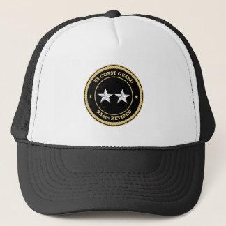 Coast Guard RAdm Retired Black Shield Cap