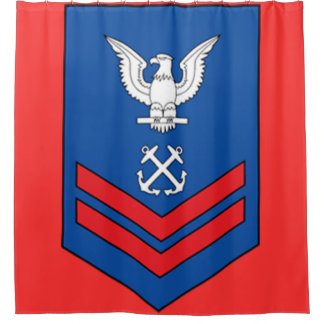 Coast Guard Rank E-5 Second Class Petty Officer Shower Curtain