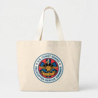 coast guard rescue swimmer jumbo tote bag