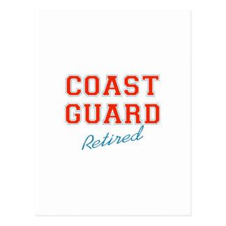 COAST GUARD RETIRED POSTCARD