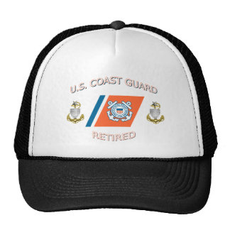 Coast Guard SCPO Retired Racing Stripe Hat