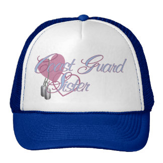 Coast Guard Sister Hearts N Dog Tags Cap