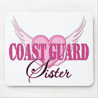 Coast Guard Sister Wings Mouse Pads
